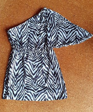 Lipsy Camicia monospalla bianco-nero
