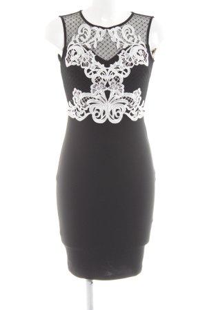 Lipsy Cocktailkleid schwarz-weiß Elegant