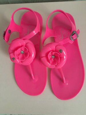 Lipsy Sandały japonki różowy neonowy