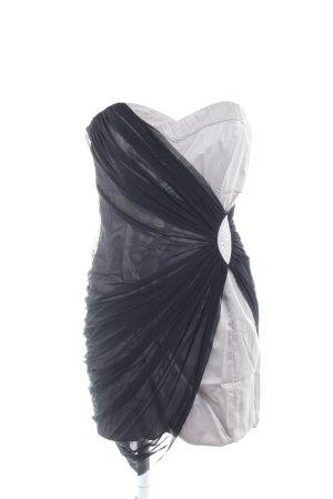 Lipsy Etuikleid grau-schwarz extravaganter Stil