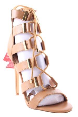 Lipsy High Heel Sandaletten hellbraun-goldfarben Elegant