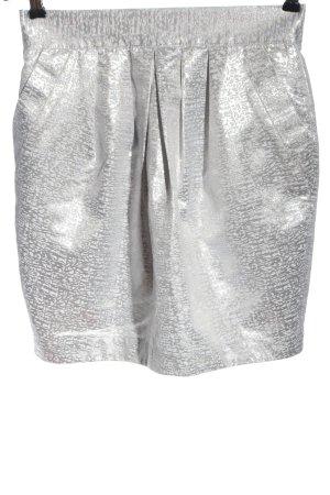 Lipsy Gonna a vita alta grigio chiaro-argento stampa integrale elegante