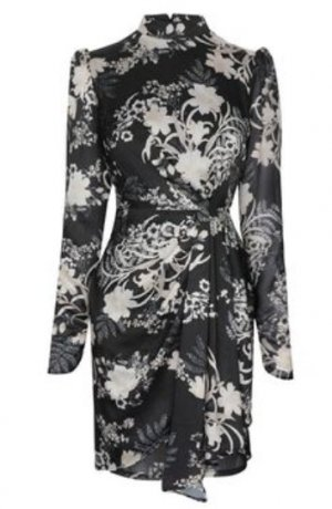 Lipsy Isobel Print Drape Dress