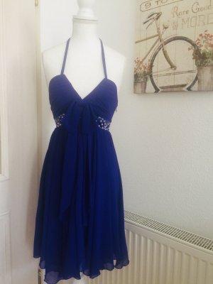 Lipsy Vestido de chifón azul-azul oscuro