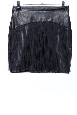 Lipsy Kunstlederrock schwarz extravaganter Stil