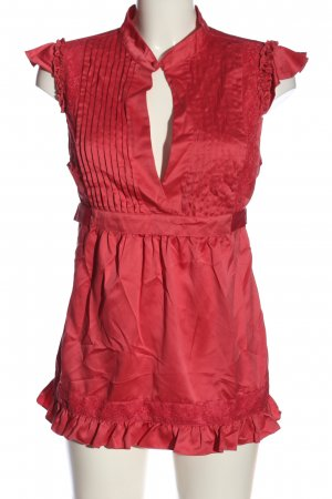 Lipsy Kurzarm-Bluse rot Casual-Look