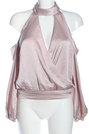 Lipsy Camicetta a maniche lunghe rosa elegante