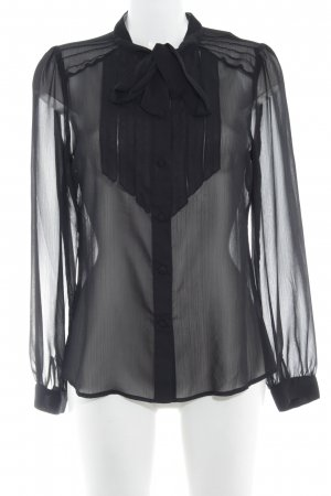 Lipsy Langarm-Bluse schwarz Business-Look