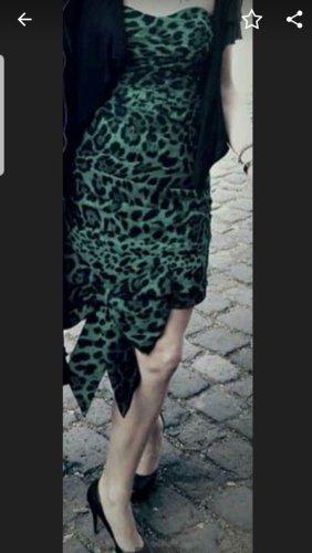 lipsy london Sukienka z gorsetem czarny-zielony