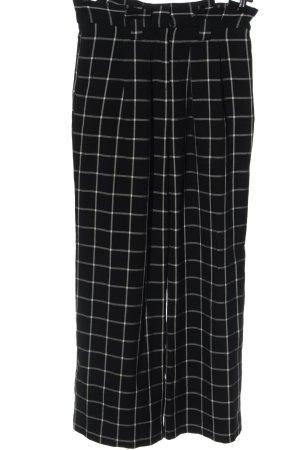 lipsy london Baggy broek zwart-wit geruite print zakelijke stijl
