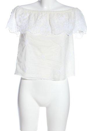 lipsy london Blusa alla Carmen bianco stile casual