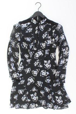 Lipsy London Chiffonkleid Größe 36 mit Blumenmuster Langarm schwarz aus Polyester