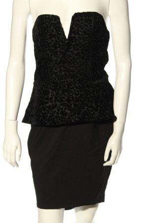 lipsy london Sukienka z gorsetem czarny Wzór w kwiaty Elegancki