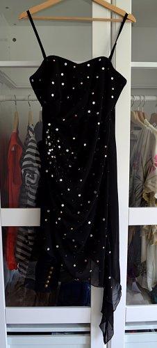 lipsy london Asymetryczna sukienka czarny Poliester