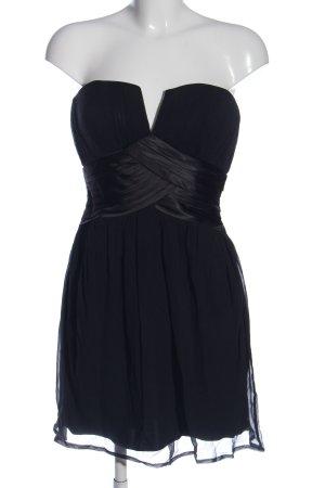 lipsy london schulterfreies Kleid schwarz Streifenmuster Elegant