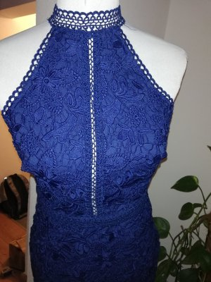 Lipsy London Spitzenkleid blau königsblau Gr. 38