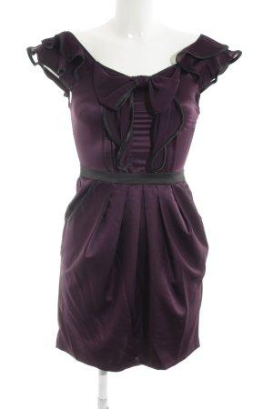 Lipsy Minikleid braunviolett-schwarz Glanz-Optik