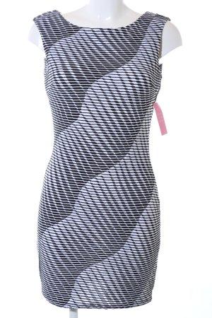 Lipsy Minikleid schwarz-weiß Allover-Druck Business-Look