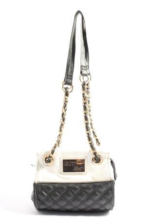 Lipsy Mini sac noir-blanc motif de courtepointe style décontracté