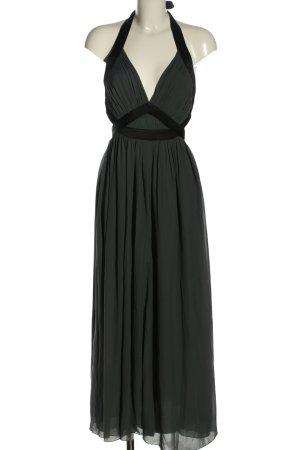Lipsy Vestido de cuello Halter gris claro-negro look casual