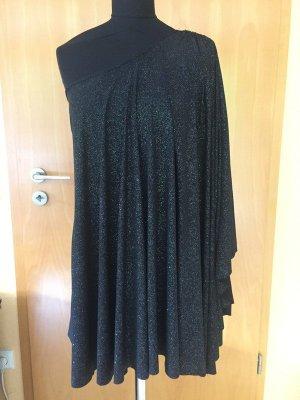 Lipsy, One Shoulder Dress, Glitter, Gr. US 6 / UK 10, schwarz mit Glitzer, NEU!