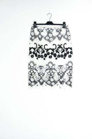 Lipsy Falda de encaje blanco-negro