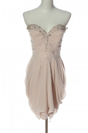 Lipsy schulterfreies Kleid creme Elegant