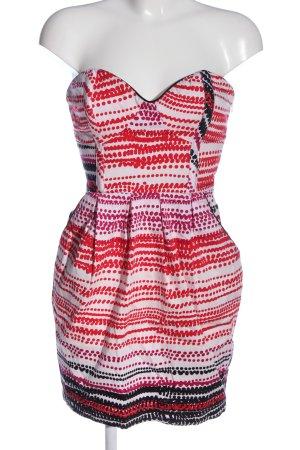 Lipsy Sukienka bez ramiączek Abstrakcyjny wzór W stylu casual