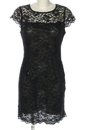 Lipsy Spitzenkleid schwarz Webmuster Casual-Look