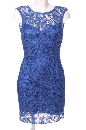 Lipsy Spitzenkleid blau Blumenmuster Elegant