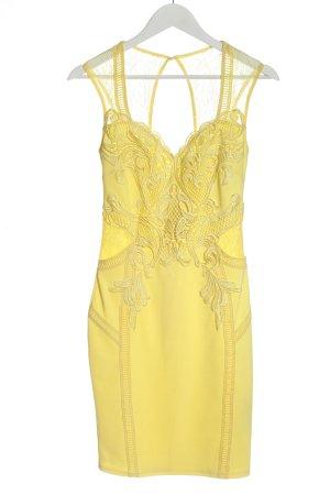 Lipsy Robe en dentelle jaune primevère élégant