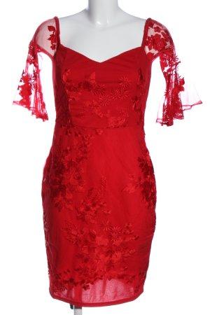 Lipsy Spitzenkleid rot Elegant