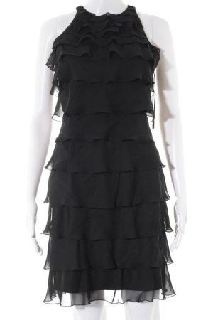 Lipsy Volantkleid schwarz Elegant