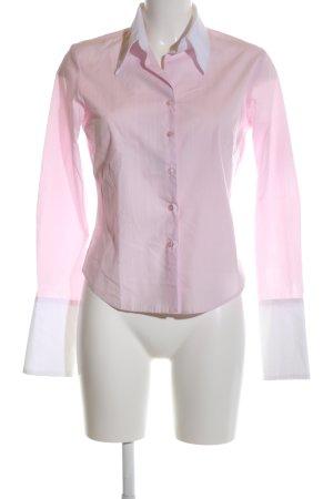 liquid Hemd-Bluse pink-weiß Streifenmuster Business-Look