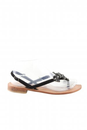 lisa c bijoux Toe-Post sandals black casual look