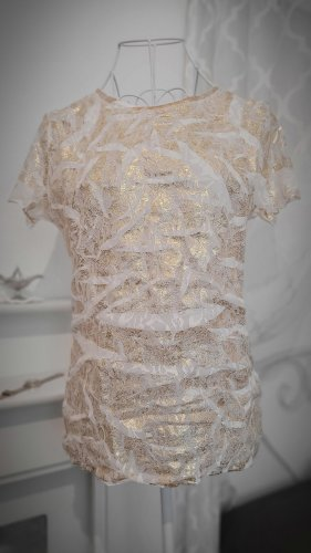 Lisa Campione Blouse Shirt white-gold-colored
