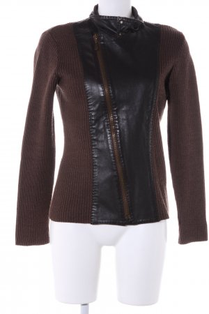 Lisa Campione Cardigan bronzefarben-schwarz Casual-Look
