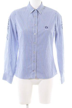 Lisa Campione Langarmhemd blau-weiß Streifenmuster Casual-Look