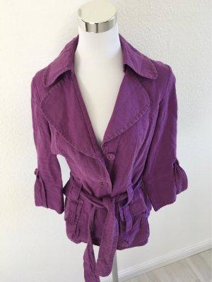 Lisa Campione Short Blazer grey lilac-lilac