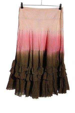 Lisa Campione Jupe longue gradient de couleur style décontracté