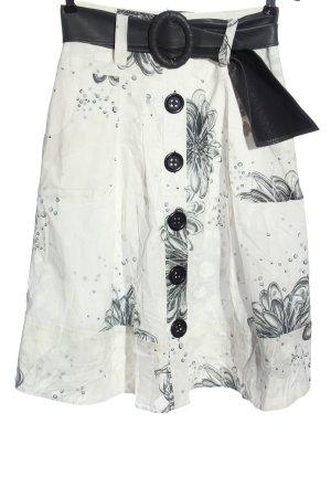 Lisa Campione Midi Skirt white-black allover print casual look