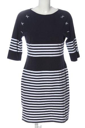 Lisa Campione Mini Dress black-white striped pattern casual look