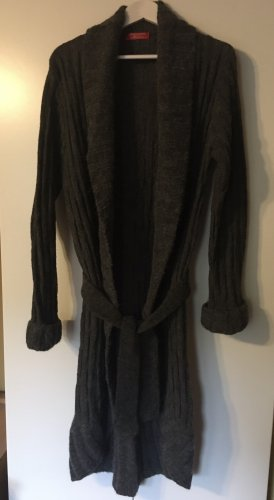 Lisa Campione Manteau en tricot gris anthracite-gris foncé