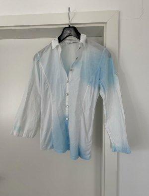 Lisa Campione Long Sleeve Blouse white-blue