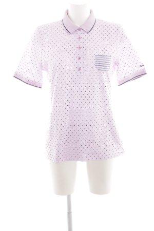 Lisa Campione Polo rose-noir motif de tache style décontracté