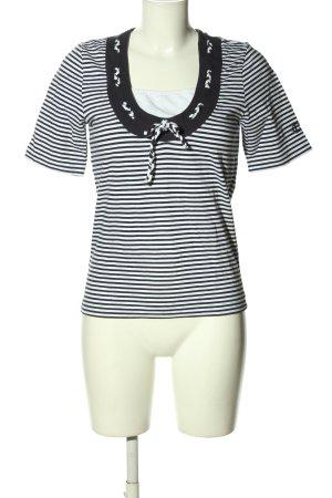 Lisa Campione Stripe Shirt white-black allover print casual look