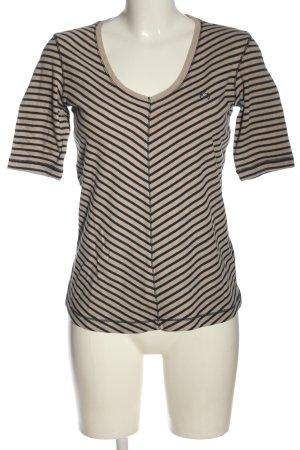 Lisa Campione Stripe Shirt nude-black striped pattern casual look