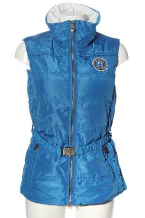 Lisa Campione Smanicato sport blu-argento stile casual