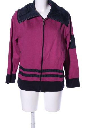 Lisa Campione Strickjacke pink-schwarz Streifenmuster Casual-Look