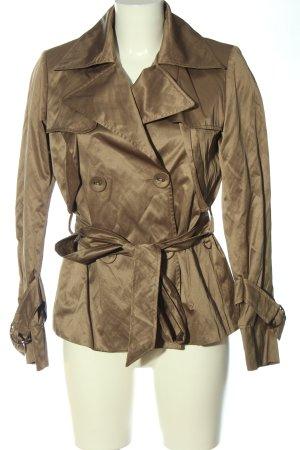 Lisa Campione Between-Seasons-Coat bronze-colored casual look